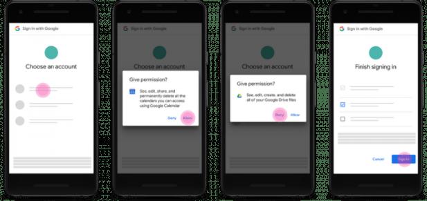 Permissões do Google (no futuro)