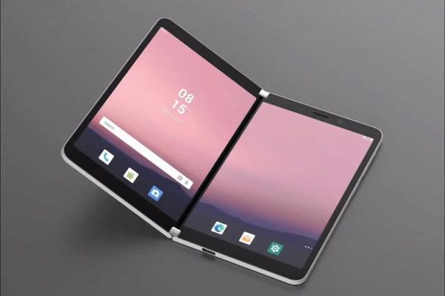 Microsoft Surface Duo, dobrável com Android 10, pode vir sem NFC ...