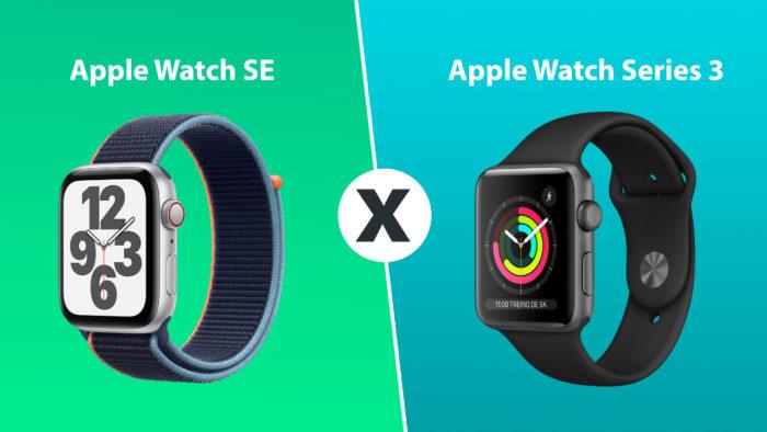 comparativo apple watch SE e Series 3