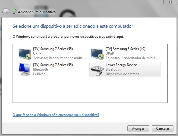 Adicionando dispositivo bluetooth no Windows 7 (Imagem: Reprodução / Windows)