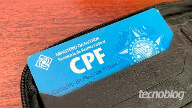 CPF (Imagem: Emerson Alecrim/Tecnoblog)