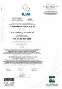 ISO 9001:2008 Tecnoenergy