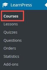 como criar cursos online com learnpress