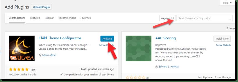 como criar um tema filho no WordPress