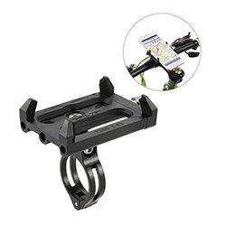 Lixada Antideslizante Bicicleta Soporte de Teléfono Ajustable Soporte de Montaje para 3.6-6.2 Inch Teléfono Móvil Inteligente