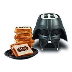 Star Wars Darth Vader Tostadora, 650 W, 2 Ranuras, Negro [Clase de eficiencia energética B]