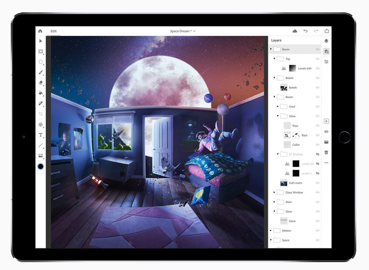 Adobe svela l'anteprima di Photoshop CC per iPad