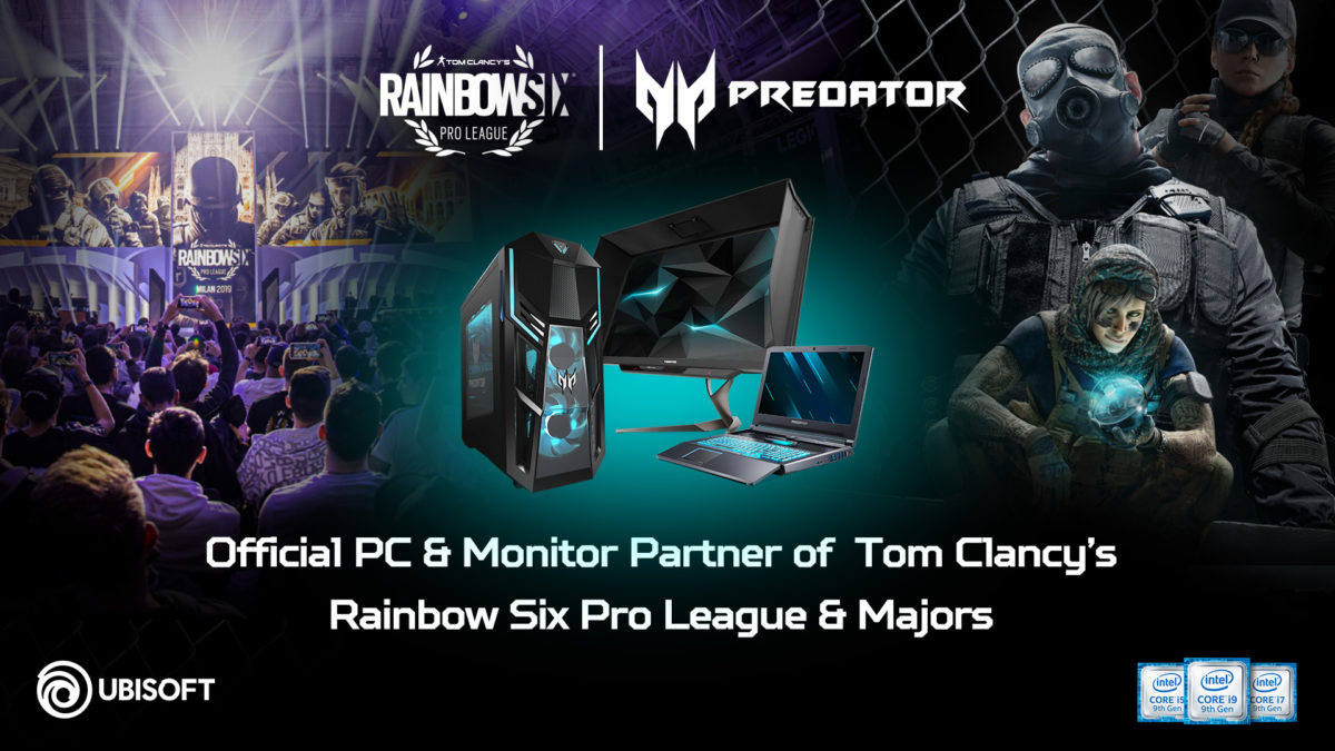 Acer Predator sponsor nella Tom Clancy's Rainbow Six Pro League e nei Major
