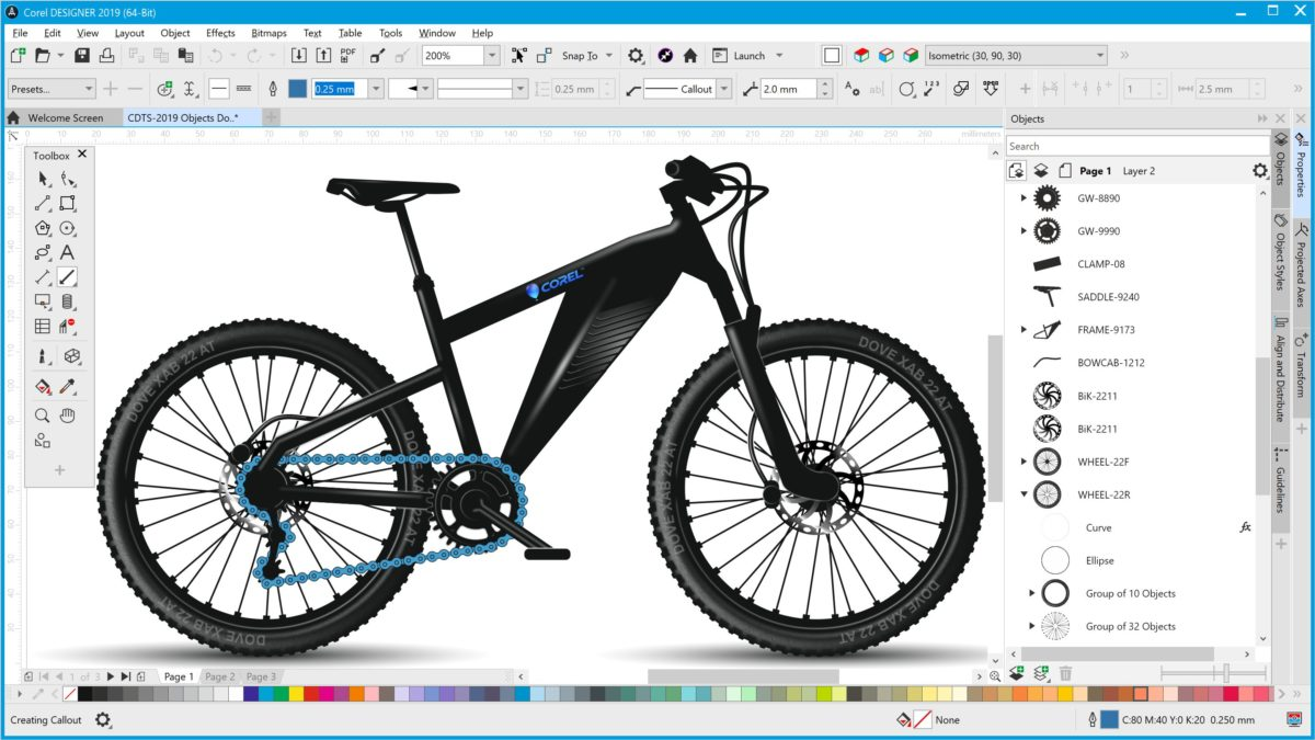 CorelDRAW Technical Suite 2019 offre precisione e controllo per l'illustrazione tecnica