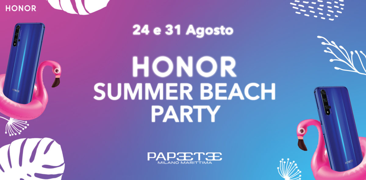 HONOR Summer Beach Party, al Papeete la festa colorata e social dell'estate 2019