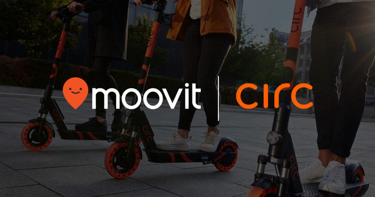 Moovit e Circ si alleano per includere gli e-scooter all'interno della prima app al mondo della mobilità urbana