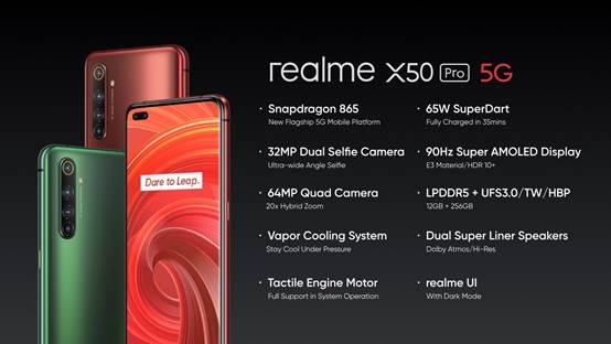 realme presenta l'innovativo realme X50 Pro 5G il primo smartphone con processore Snapdragon 865