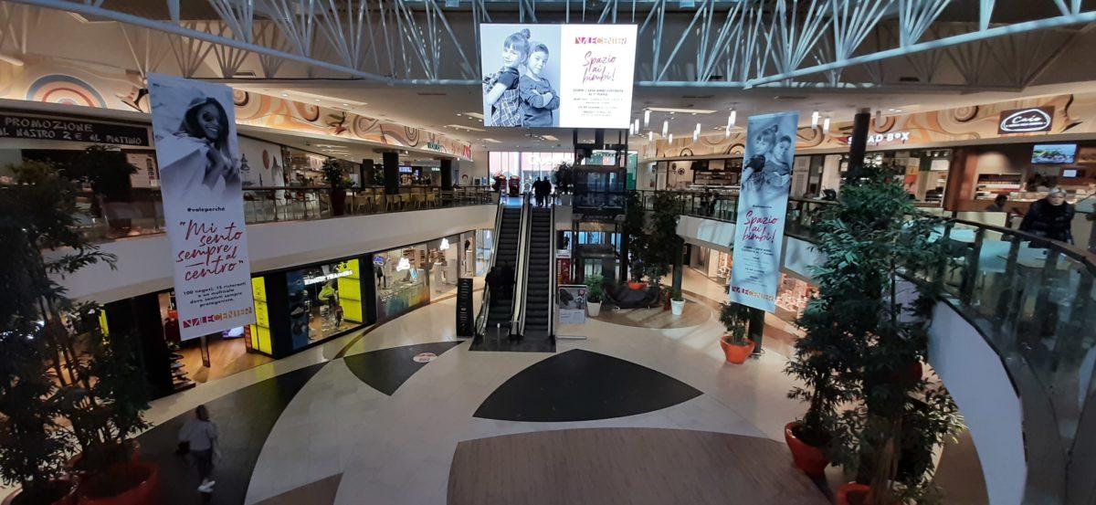 Retail e tecnologia a Valecenter: installato il ledwall digitale