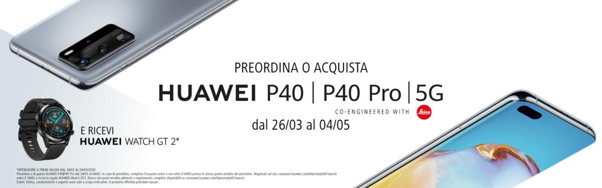 Promo per chi preordina o acquista un Huawei P40 | P40 Pro. Occhio agli acquisti su Amazon