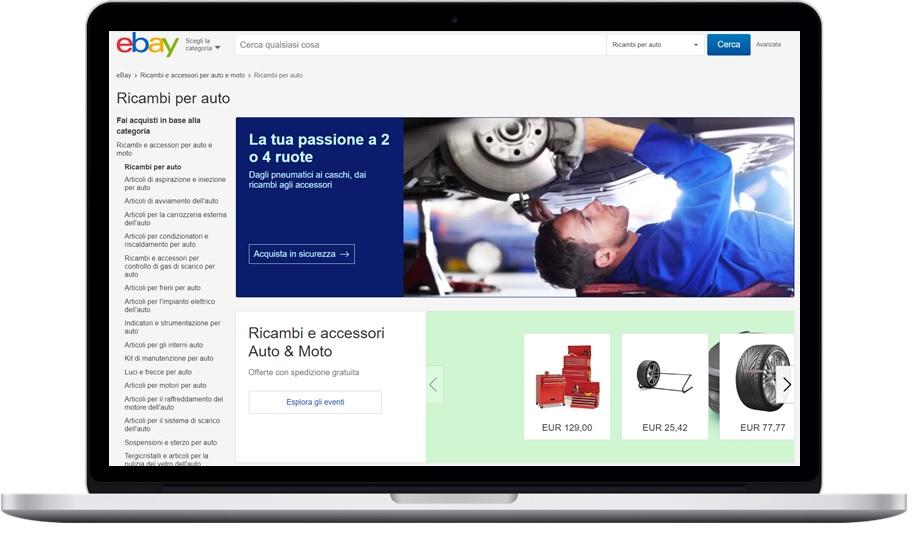 eBay fornisce il montaggio degli pneumatici acquistati sulla piattaforma