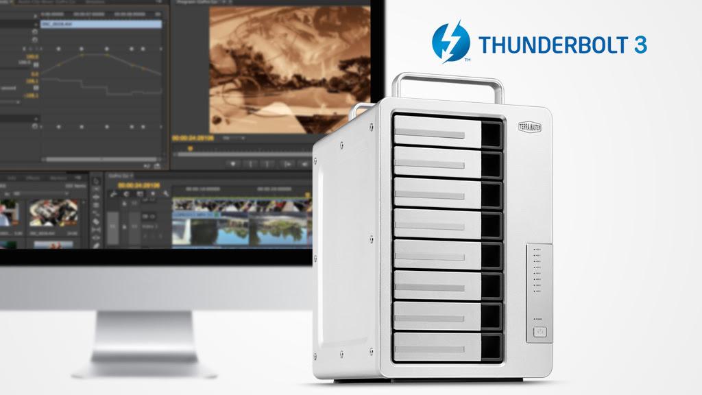 TerraMaster presenta Fast Dual 40 Gbps 8-bay D8 Thunderbolt 3, perfetto per gestire i video 4K