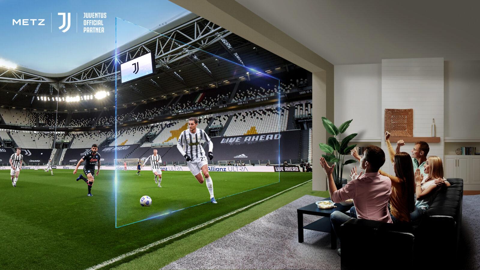 METZ, smart TV tra le più amate. Arriva la collaborazione con la Juve