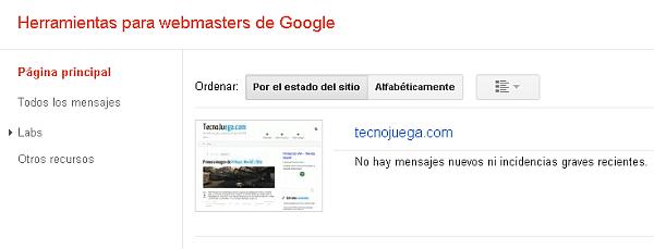 Herramientas Webmasters de Google