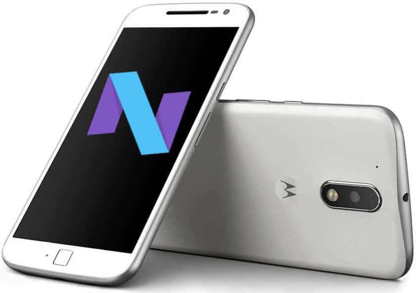 Moto G4 Plus con Android Nougat
