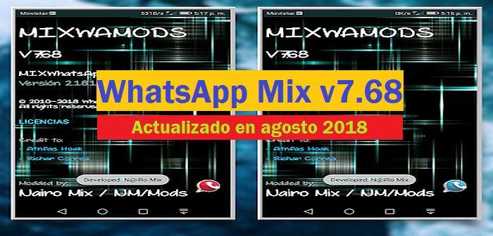 descargar whatsapp mix apk 7.68
