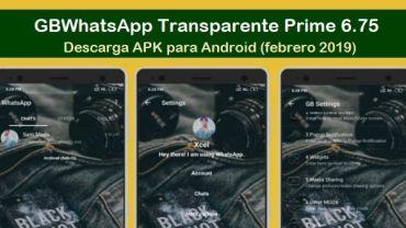 descargar gbwhatsapp transparente prime apk 2019