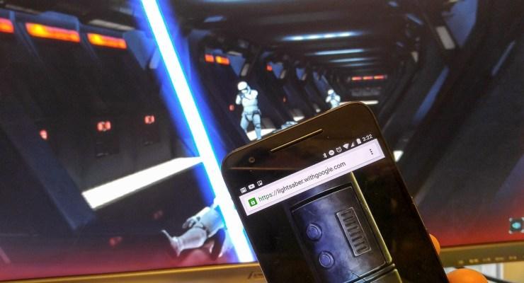 Juego Star Wars convierte tu teléfono en un sable de luz
