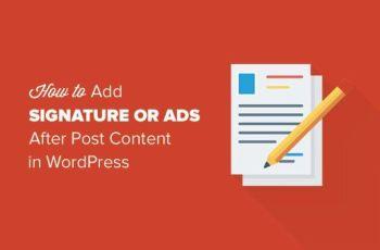 Agregar una Firma o Anuncios en WordPress