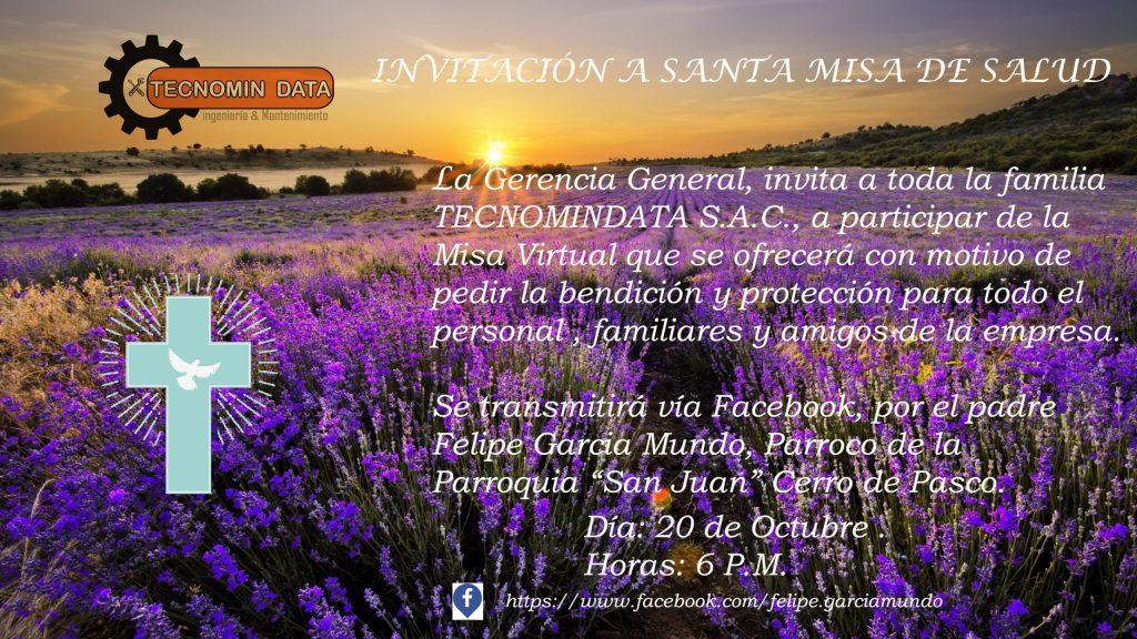 invitacion a misa tecnomidata