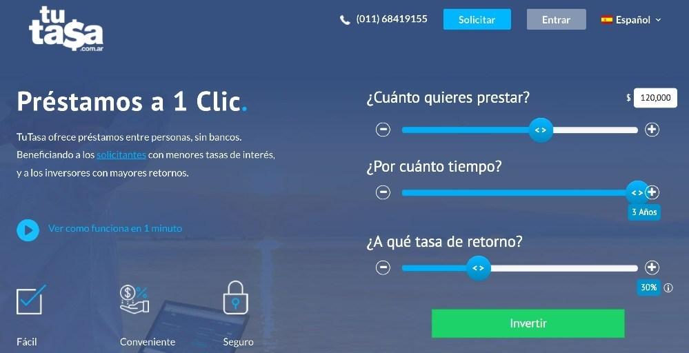 TuTasa, nueva plataforma de préstamos entre personas, sin bancos