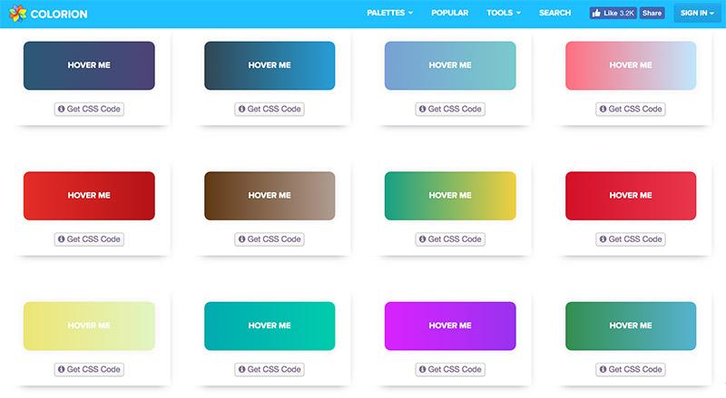 Cientos de estilos CSS para botones con degradado gratis