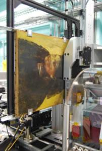 El cuadro de Degas dispuesto en el dispositivo que ha revelado su imagen oculta. / David Thurrowgood
