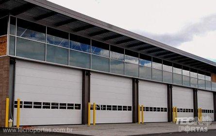 Portas Seccionadas Industriais - portas automáticas portão seccionado porta seccionada para docas
