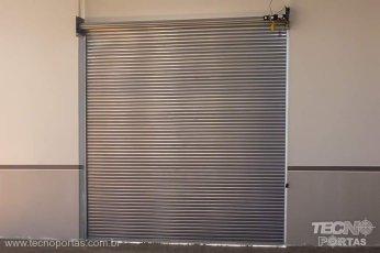 porta de rolo automática porta de rolo de aço portão de aço motorizado porta de enrolar em Presidente Prudente