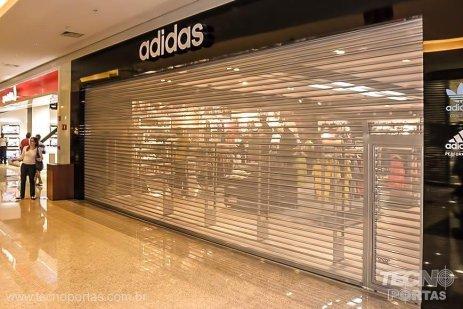 porta de enrolar transvision - portas de enrolar para shopping porta automática para loja
