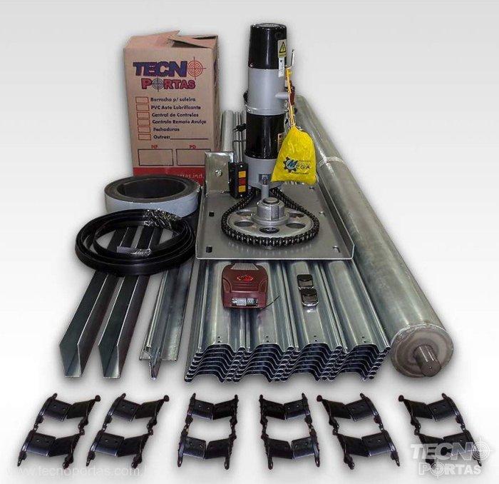 kit porta de aço automática