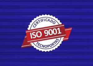 Porta de Enrolar é mais resistente com certificado ISO 9001