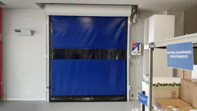 Kit Porta de PVC porta flexível de plastico Porta Flexível de Polipropileno Porta Rápida de Enrolar Portas Rápidas de Lona