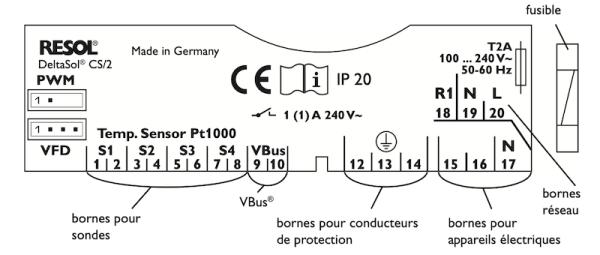 Regulation solaire delta sol resol 2 capteurs 1
