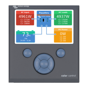 Site isolé Installateur installation-victron-energie Color Control
