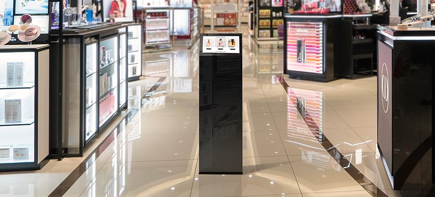 Kiosk display touch screen small size