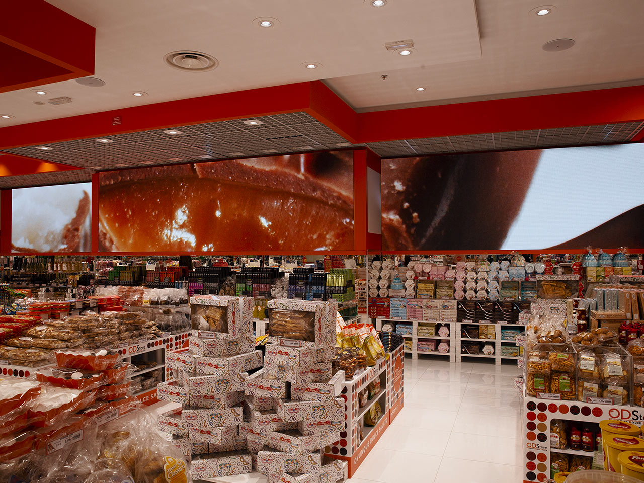 ODStore ledwall perimetrale Digital Signage banner LED Store