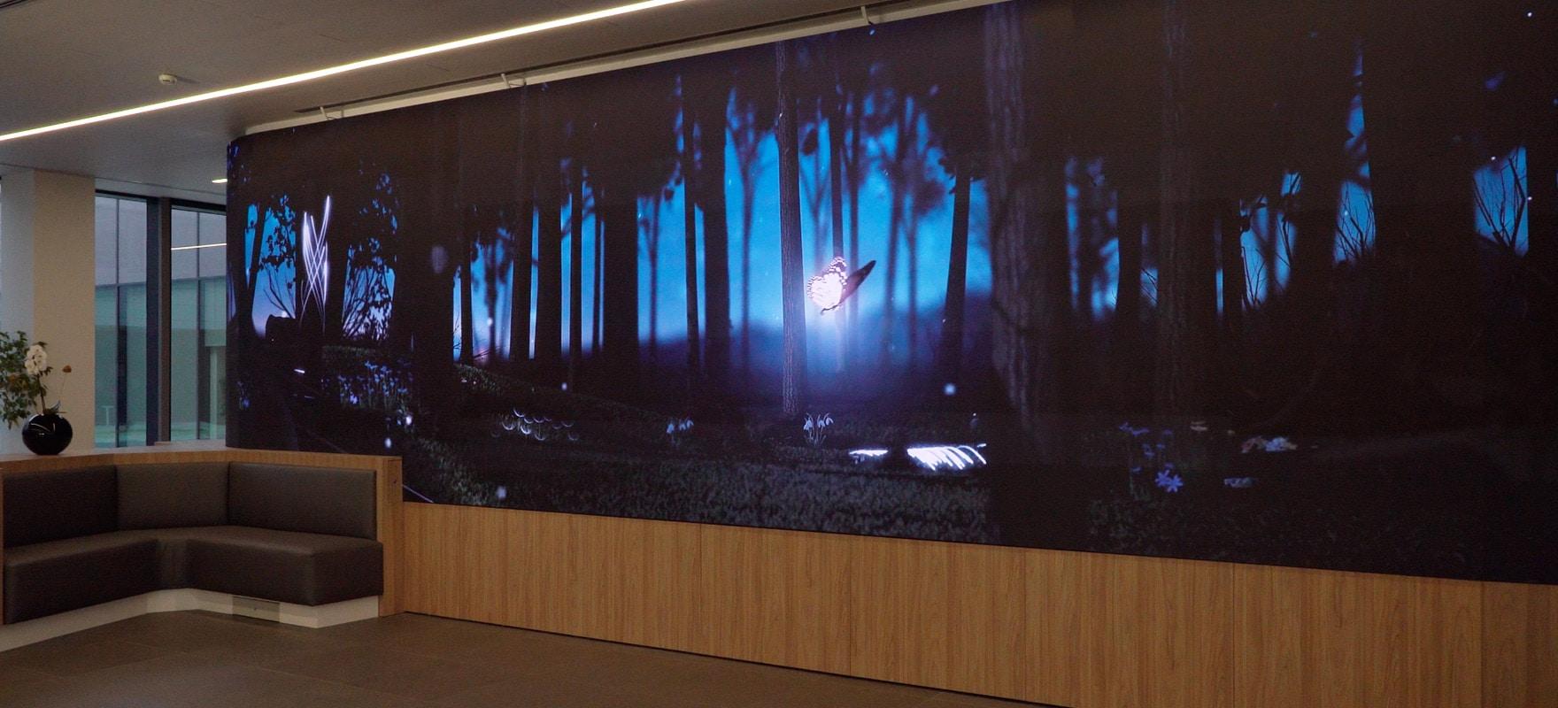 Ledwall indoor passo 2.5 alta definizione insegna digitale Digital Signage real estate architettura e design