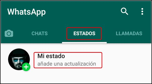 mi estado de WhatsApp