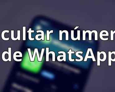 ocultar número de WhatsApp