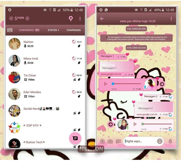 Tema Hello Kitty Whatsapp
