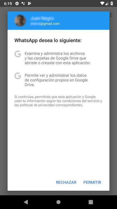 permitir el acceso a Gmail
