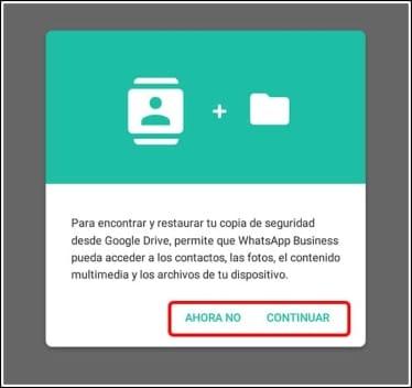 copia de seguridad WhatsApp Business