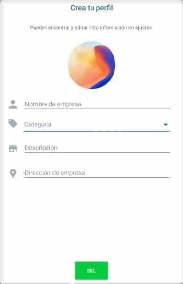 crear perfil WhatsApp Business