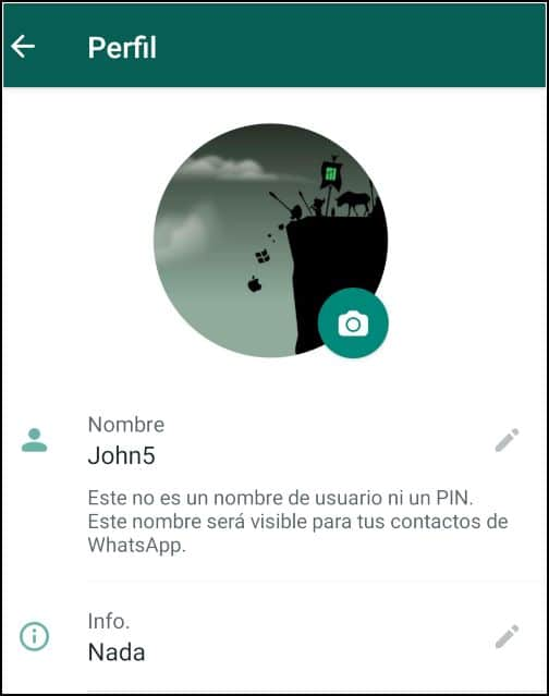 Info de WhatsApp