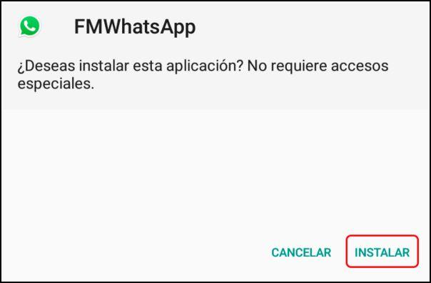 instalación Fouad WhatsApp